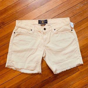 NWT Lucky brand cream corduroy cut off shorts.28